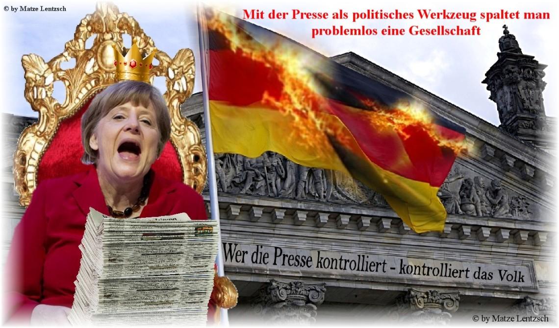 Merkel und die Presse fertig
