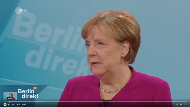 Merkel im ZDF zur Groko