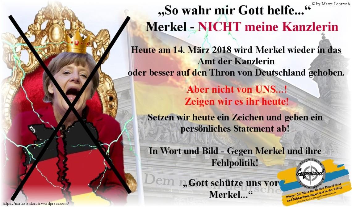 Merkel Nicht meine Kanzlerin 1