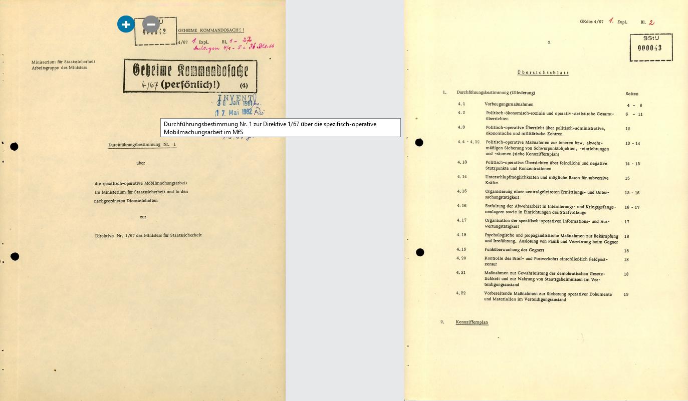 Direktive Nr. 1 67 des MfS 3